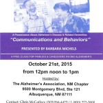 Alzheimer's Association, NM Chapter hosts Free Class for Families & Caregivers